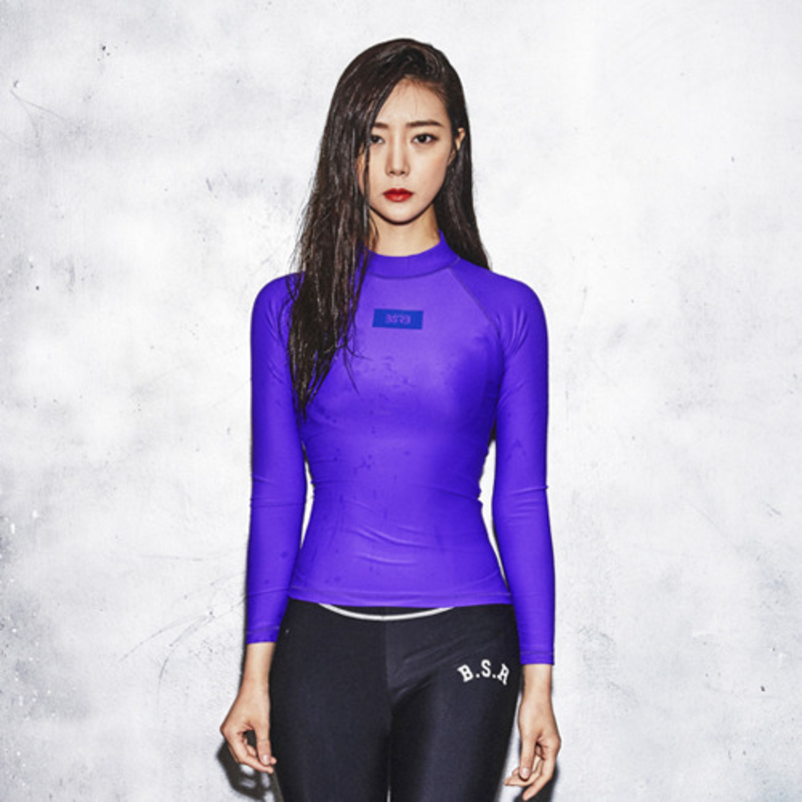 BSRB BOX BR RASH GUARD PURPLE