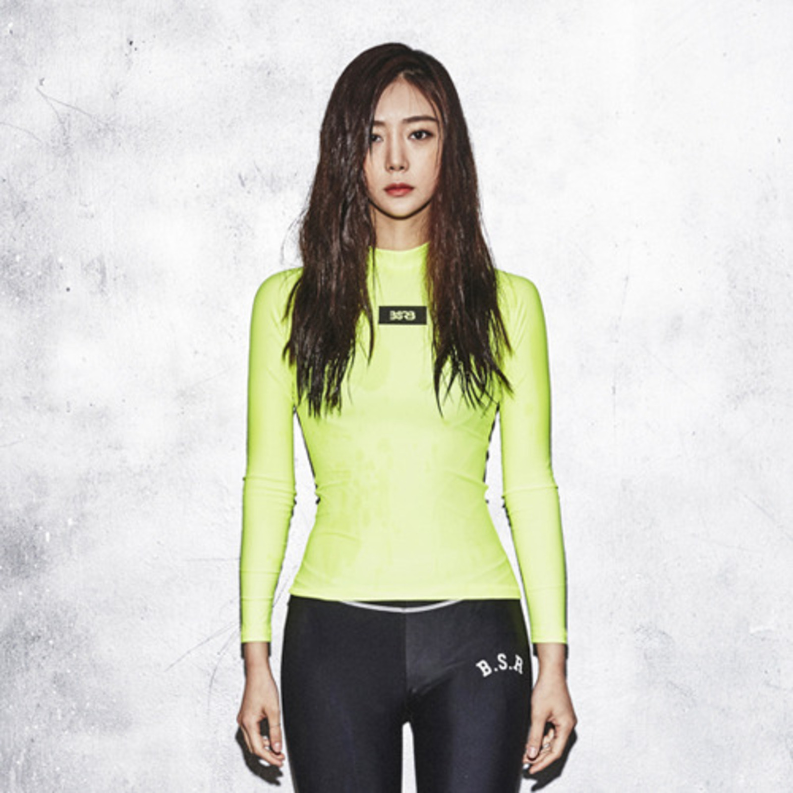 BSRB BOX BR RASH GUARD LIME