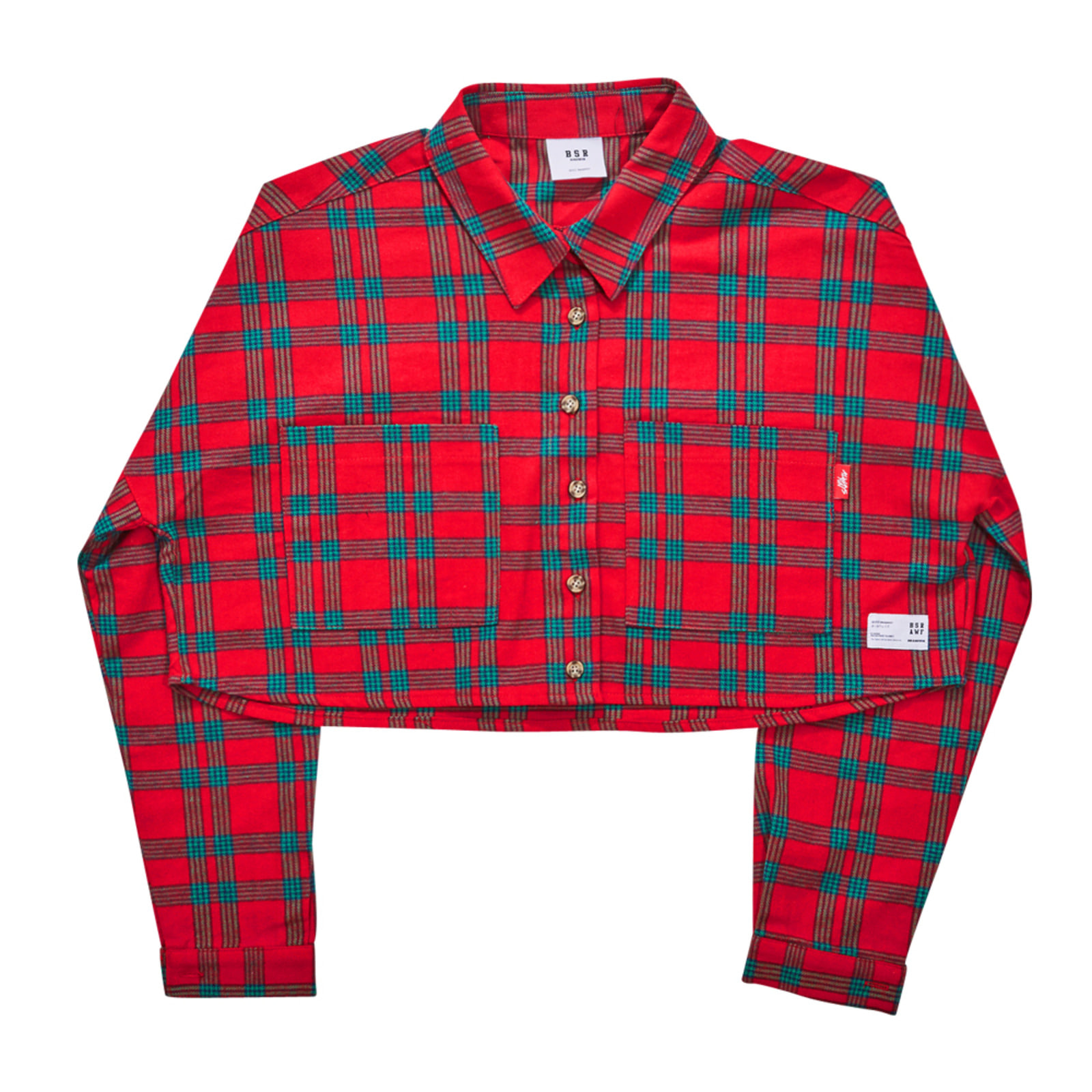 BSRAWF CHECK CROP SHIRT RED