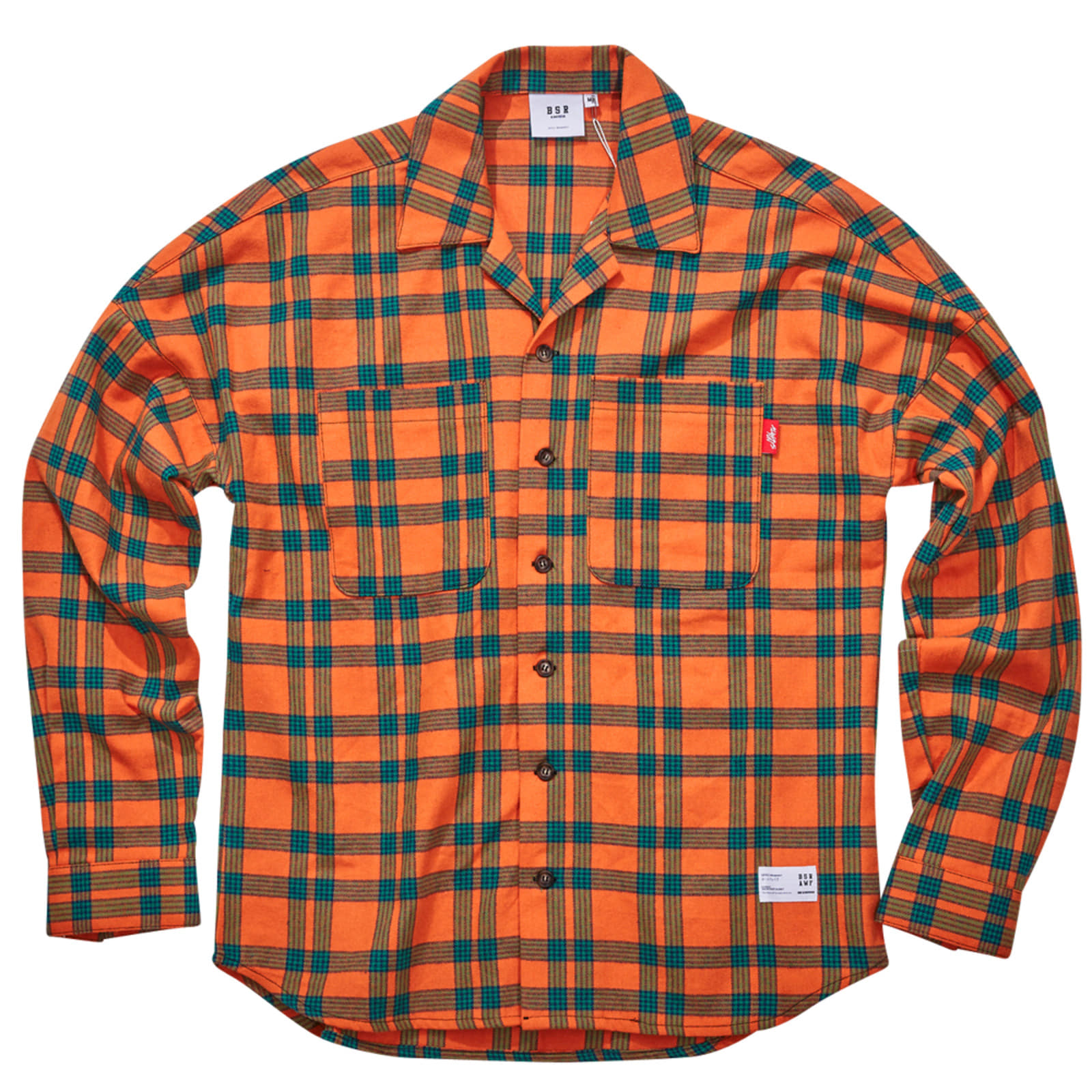 BSRABBIT BR CHECK SHIRT ORANGE