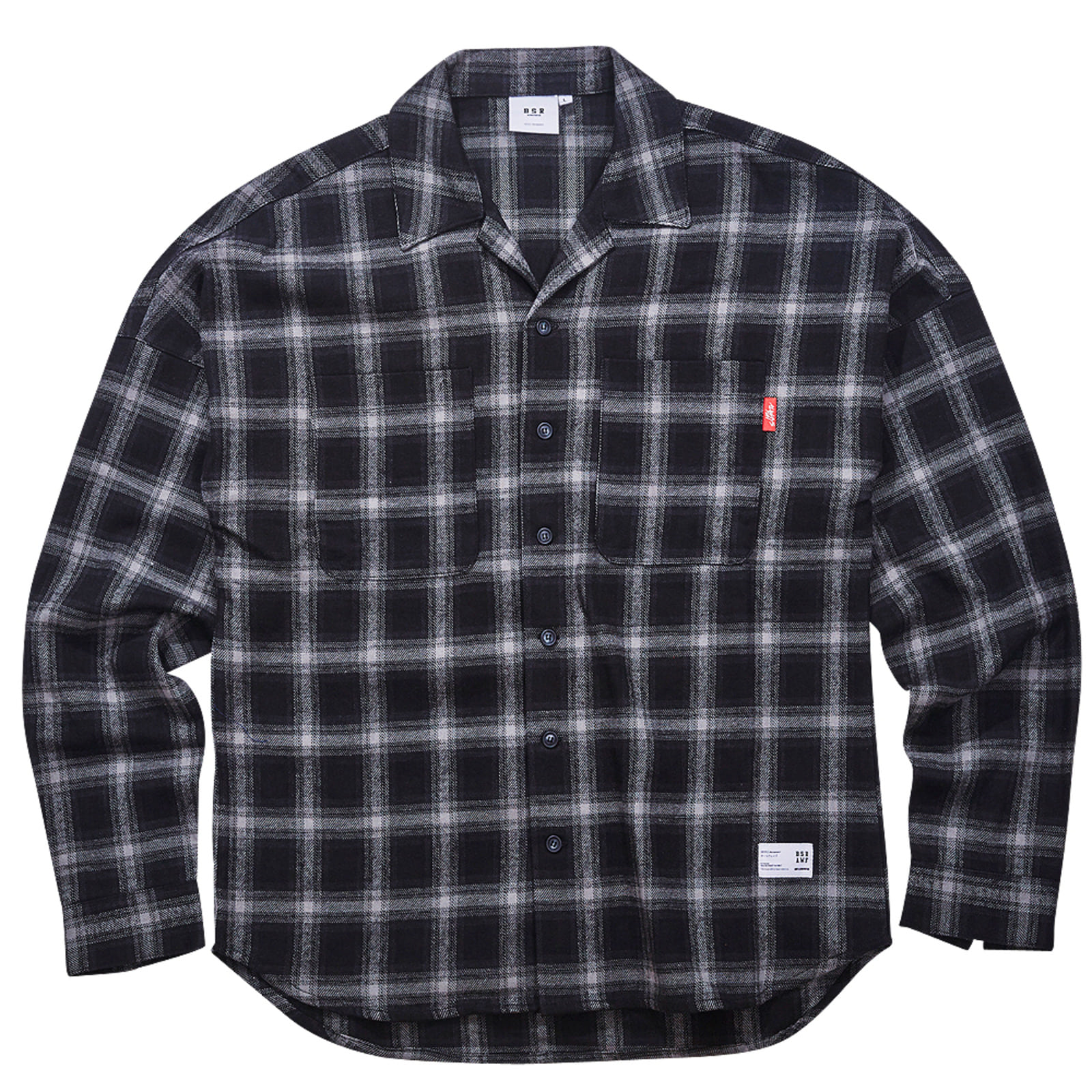 BR CHECK SHIRT BLACK
