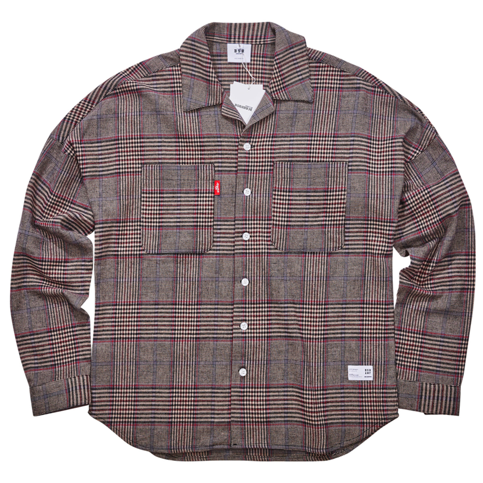 BR CHECK SHIRT BEIGE