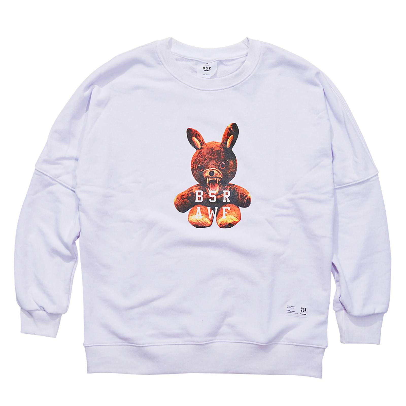MONSTER RABBIT CREWNECK WHITE