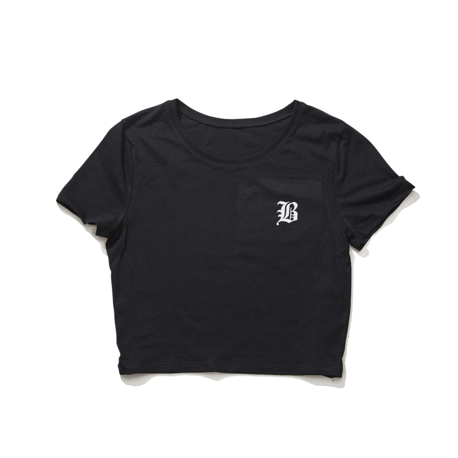 BSRABBIT B CROP T-SHIRT BLACK