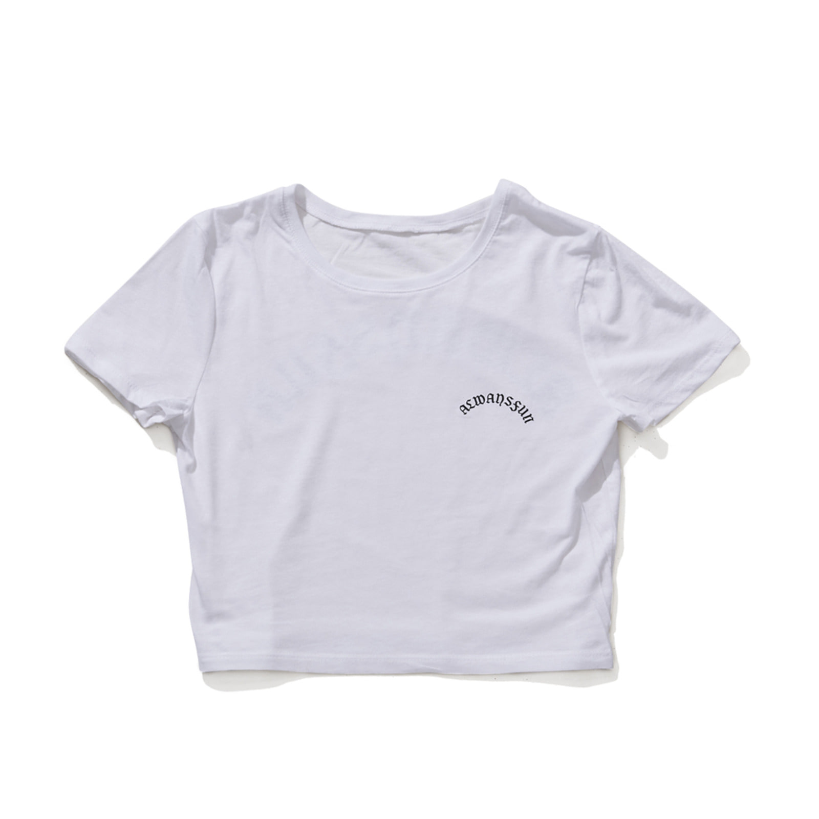 BSRABBIT ALWAYSFUN CROP T-SHIRT WHITE