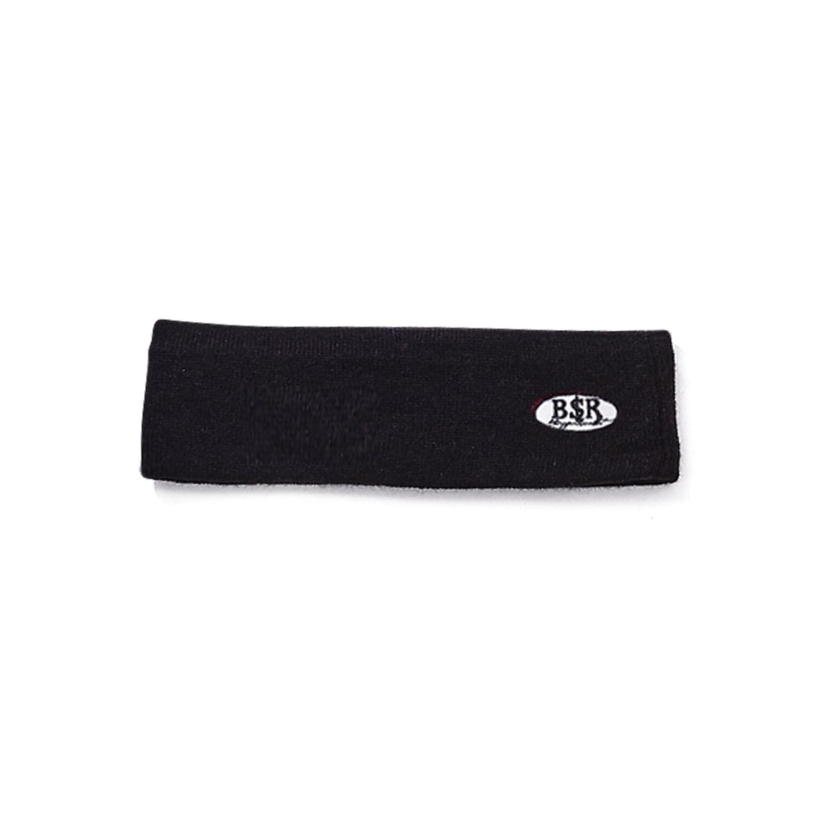 BSRABBIT BSR WAPPEN KNIT HEADBAND BLACK