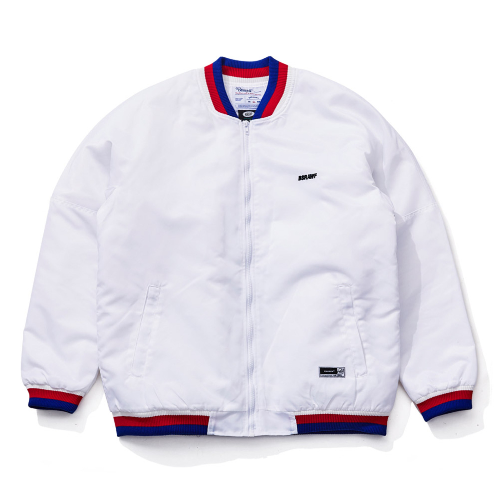 BSR STICK OUT STADIUM JACKET WHITE