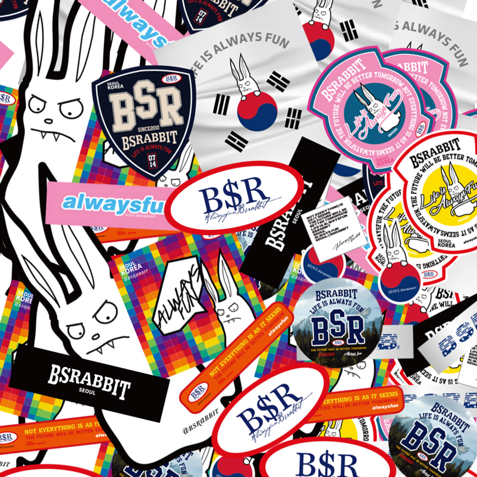 BSRABBIT Sticker pack(14개입)