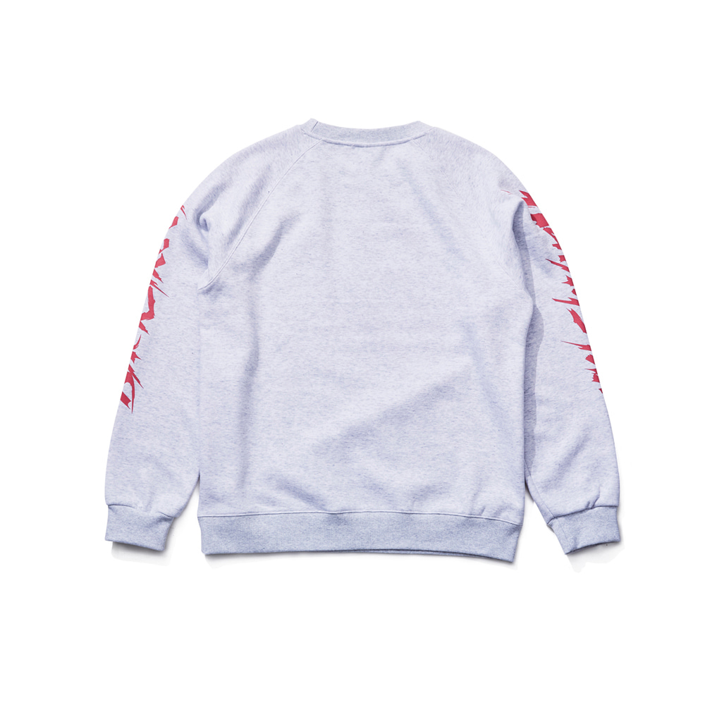 BSRABBIT BACKSTREET CREWNECK GRAY