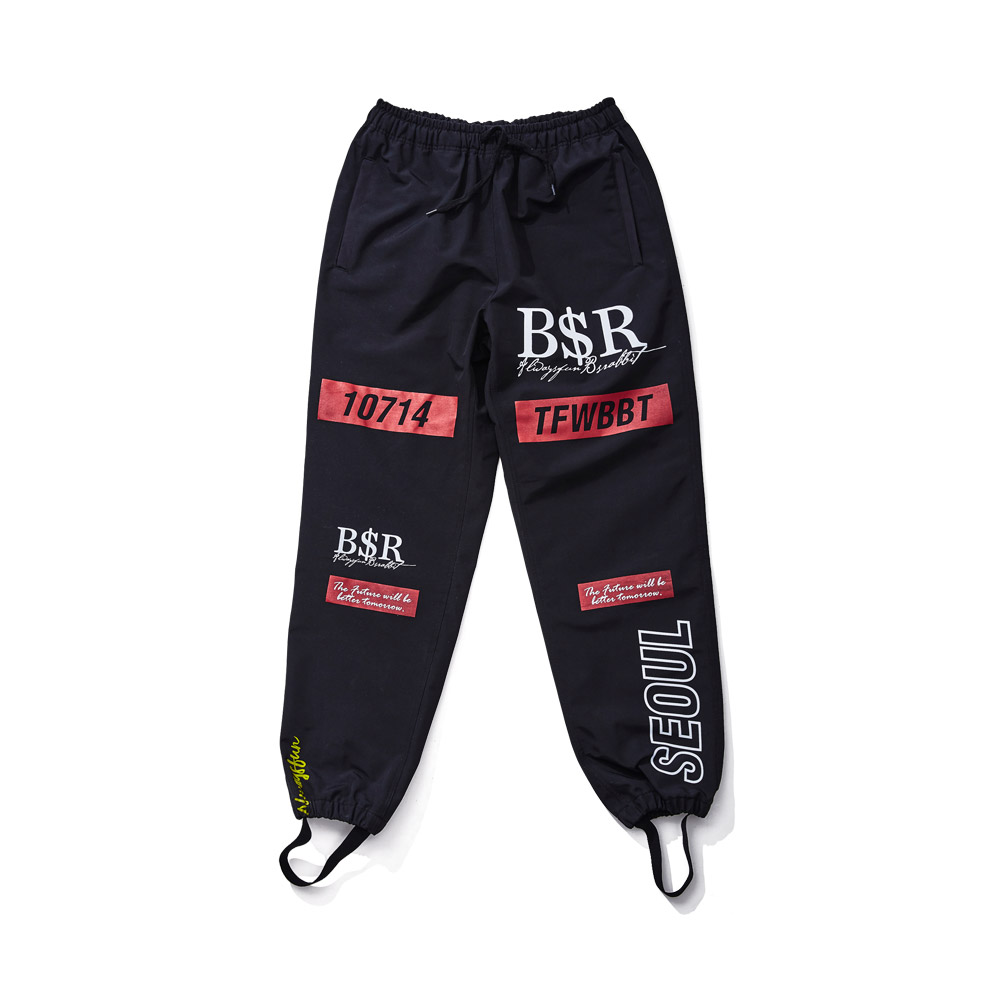 BSRABBIT TFWBBT WATERPROOF JOGGER PANTS BLACK [XXL 추가]
