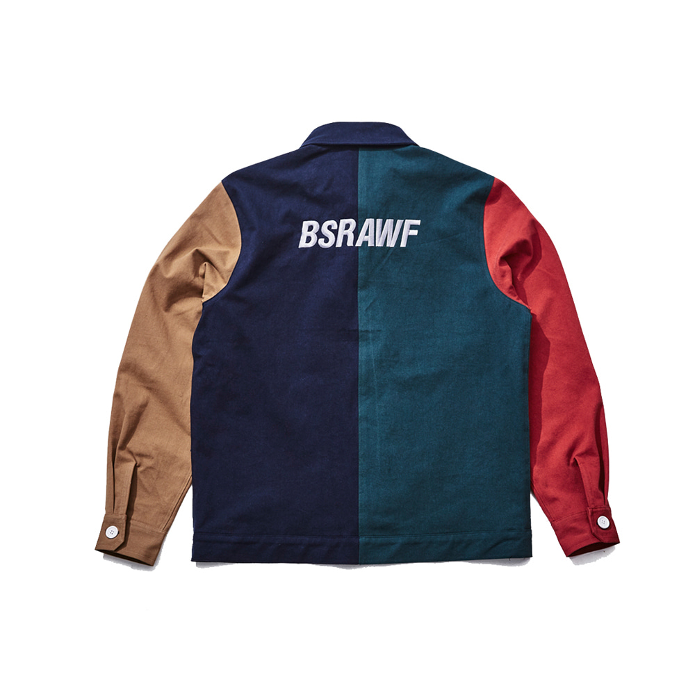 BSRABBIT UNUSUAL CLASSIC COMBINATION JACKET NAVY