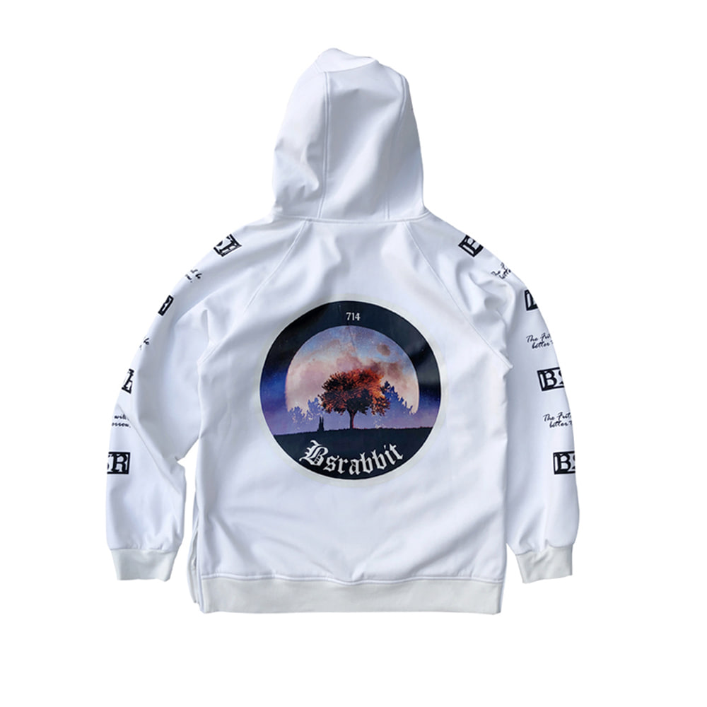 MOONRABBIT WATERPROOF HOODIE WHITE