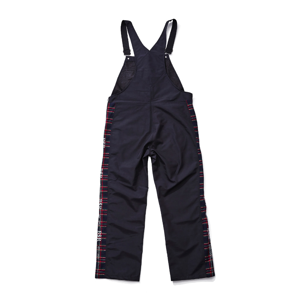 BSR WATERPROOF OVERALL TRACK PANTS BLACK