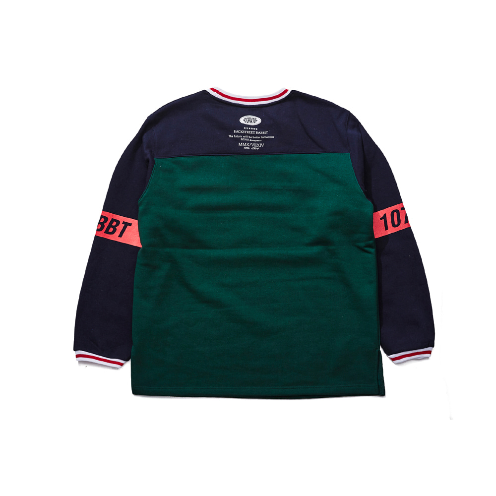 UNIQUE ACTIVE PULLOVER GREEN