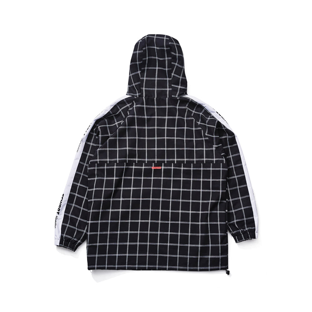 POISE ANORAK JACKET BLACK CHECK