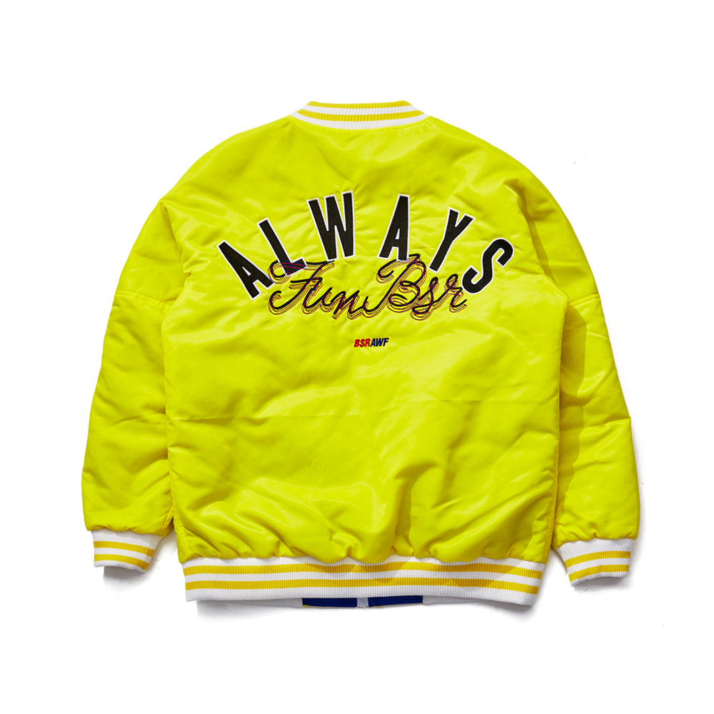 BSRABBIT CHILDHOOD REVERSIBLE STADIUM JACKET YELLOW/BLUE