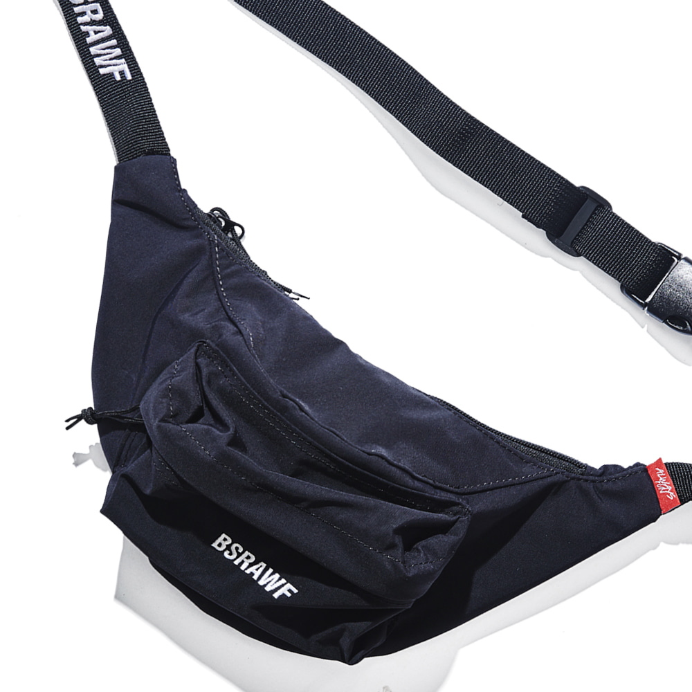 BSRABBIT BSRAWF POCKET WAISTBAG BLACK (waterproof)
