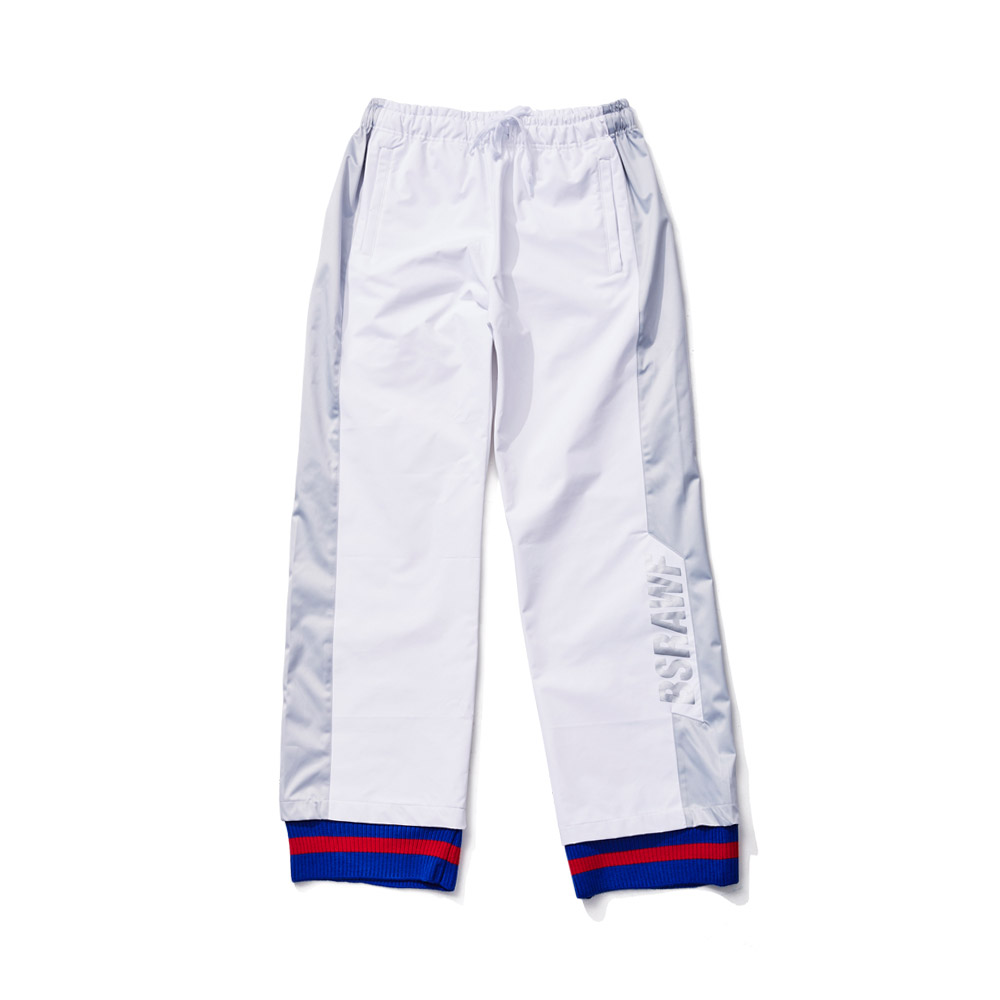 BSRABBIT BSRAWF WATERPROOF TRACK PANTS WHITE