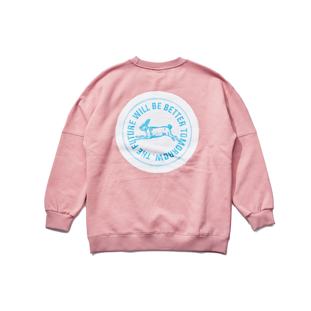 BSRABBIT HANG LOOSE CREWNECK INDY PINK
