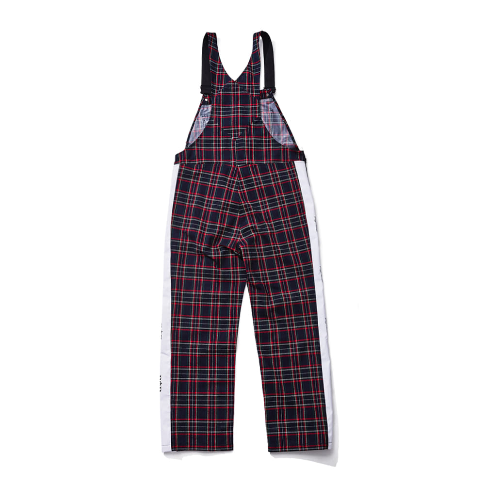 BSR WATERPROOF OVERALL TRACK PANTS CHECK NAVY