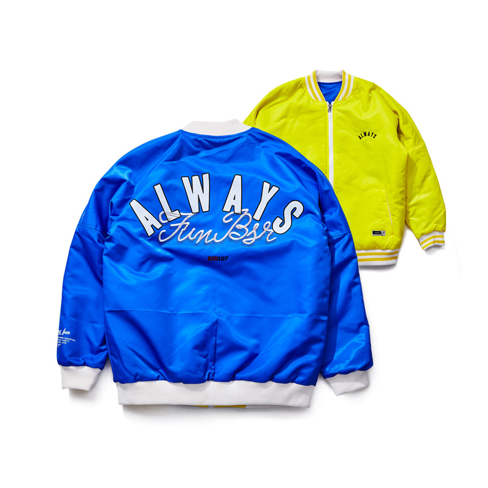 CHILDHOOD REVERSIBLE STADIUM JACKET YELLOW/BLUE