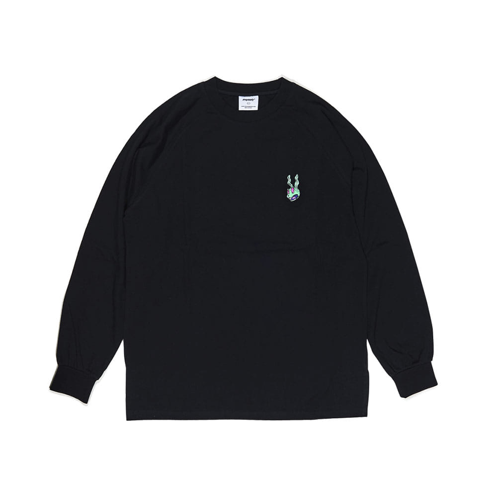 BSRABBIT TRIPPY LONG SLEEVE BLACK