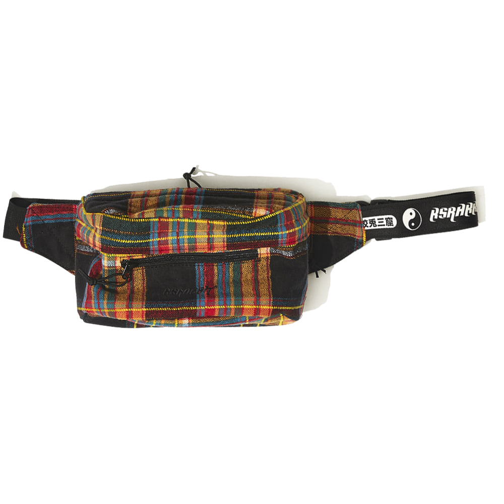 BSRABBIT IDEAL WAIST BAG CHECK BLACK