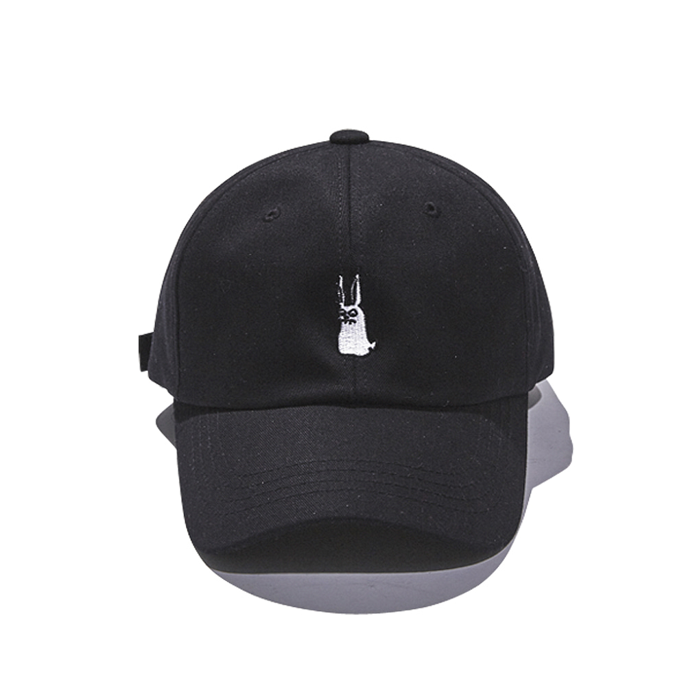BSRABBIT GR OPEN ZIPPER CAP BLACK
