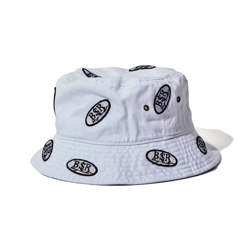 BSRABBIT BSR WAPPEN BUCKET HAT WHITE