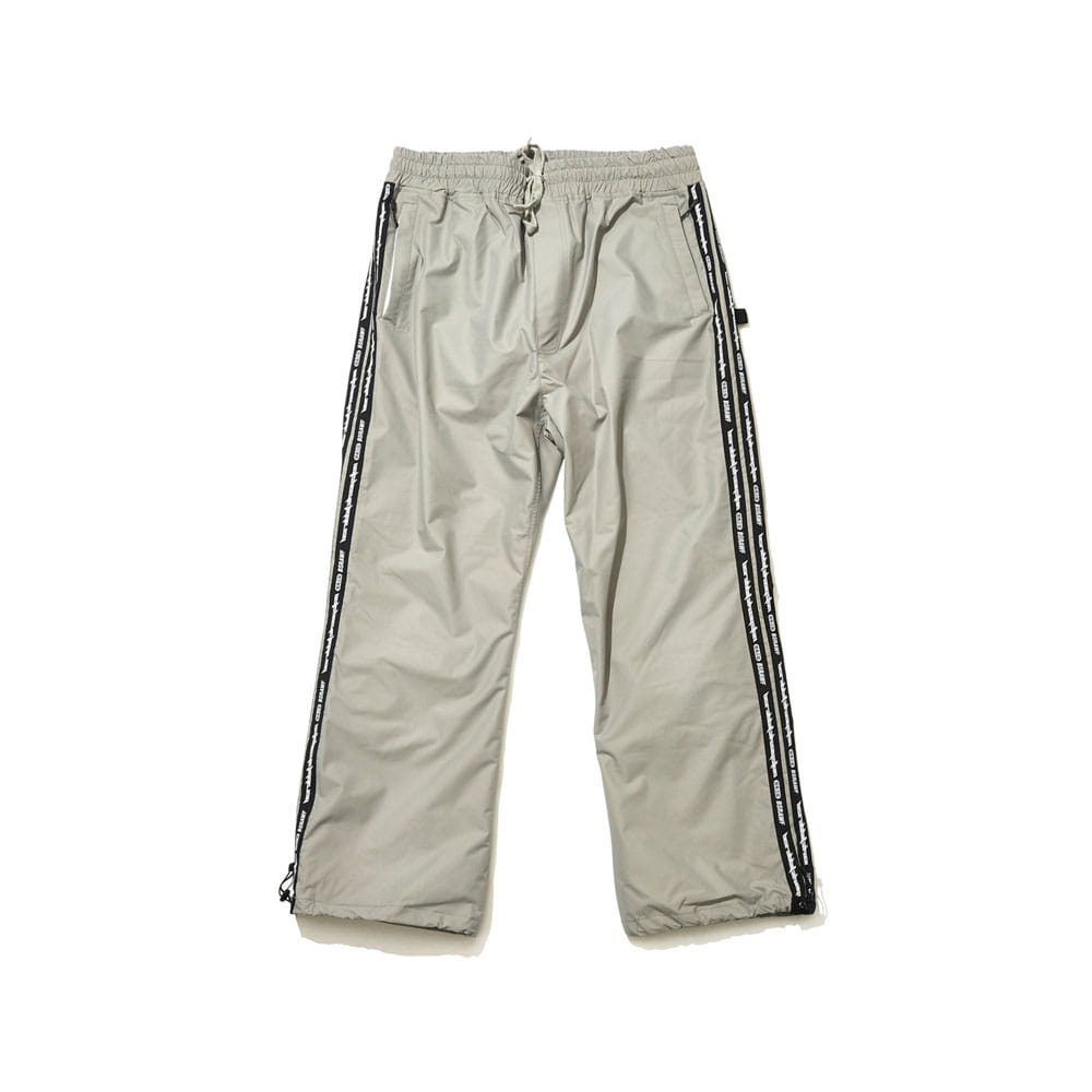 BSRABBIT DOUBLE LINE TAPE TRACK PANTS DARK GRAY