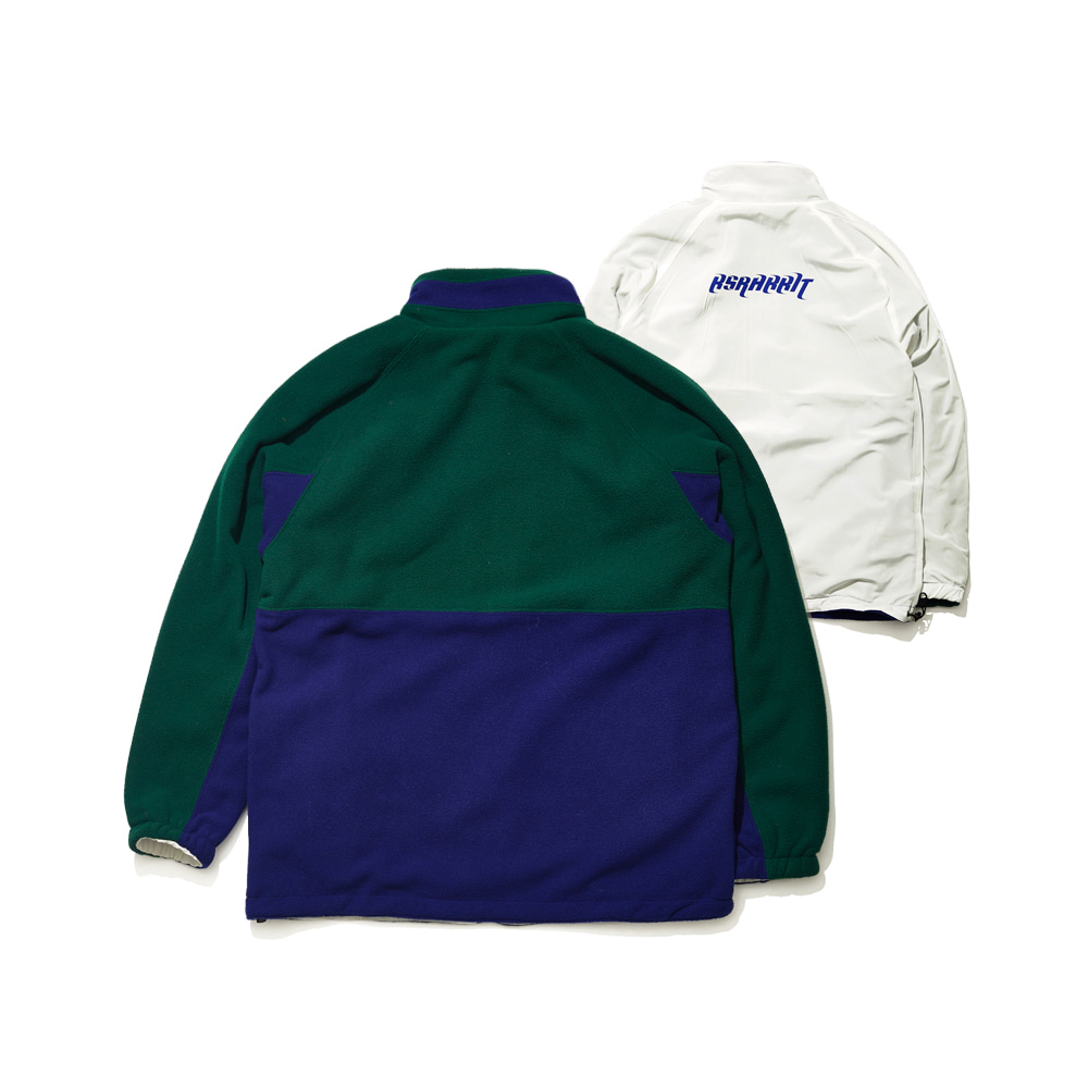 BSRABBIT TOASTY FLEECE REVERSIBLE JACKET GREEN/WHITE