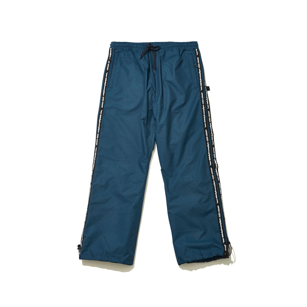 BSRABBIT DOUBLE LINE TAPE TRACK PANTS DARK BLUE