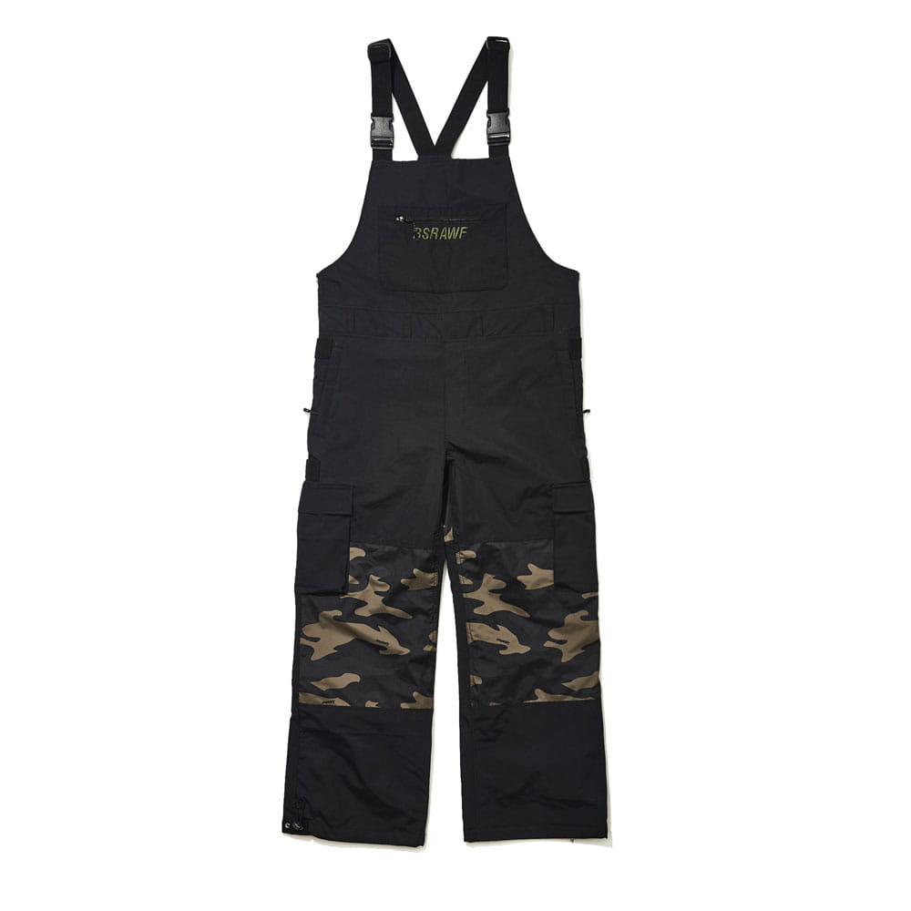 BSRABBIT BSR INCREDIBLE CARGO BIB PANTS BLACK