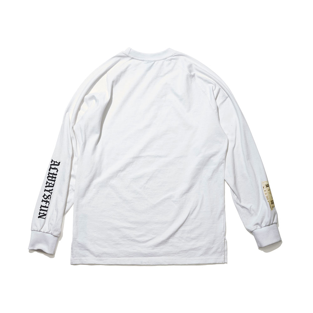 BSRABBIT ALWAYSFUN LONG SLEEVE TEE WHITE