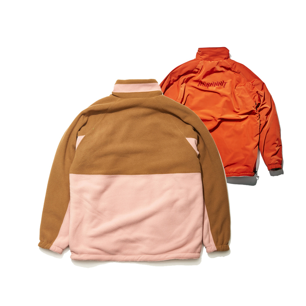 BSRABBIT TOASTY FLEECE REVERSIBLE JACKET BEIGE/CHERRY RED