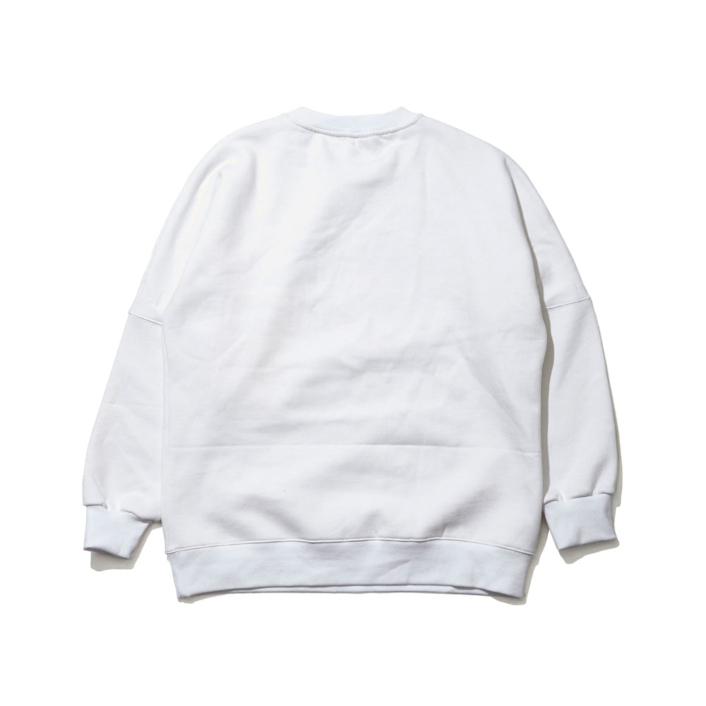 BSRABBIT MGS CREWNECK WHITE