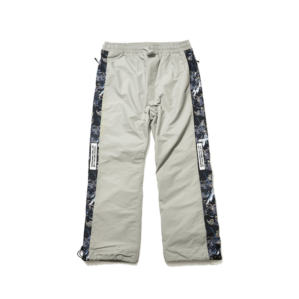 BSRABBIT BSR SHOWY LINE TRACK PANTS GRAY