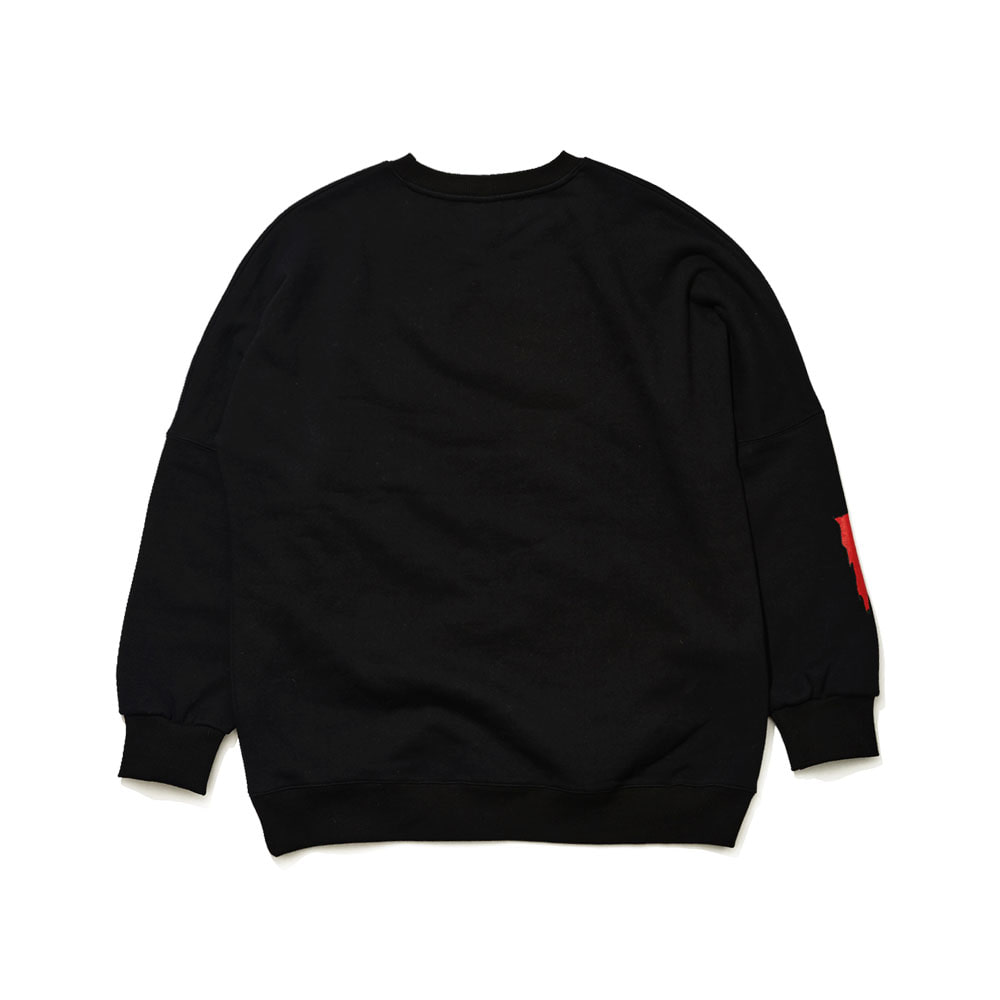BSRABBIT REAL WORLD CREWNECK BLACK