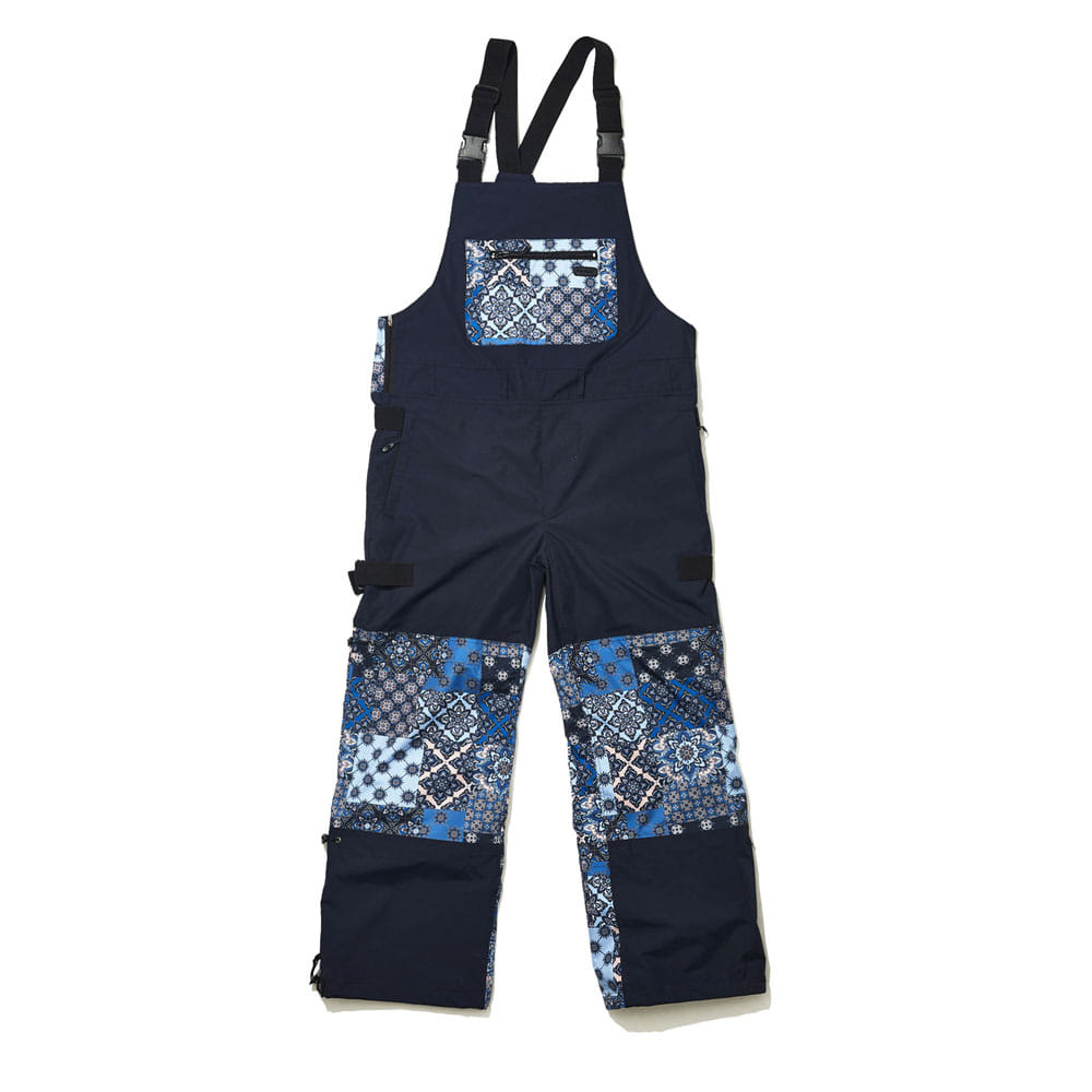 BSRABBIT BSR INCREDIBLE TRANSFORM BIB PANTS PAISLEY NAVY
