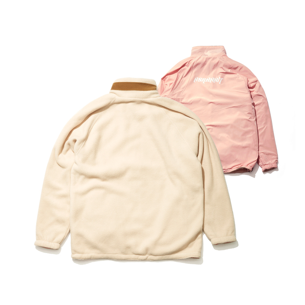 BSRABBIT TOASTY FLEECE REVERSIBLE JACKET IVORY/BABY PINK