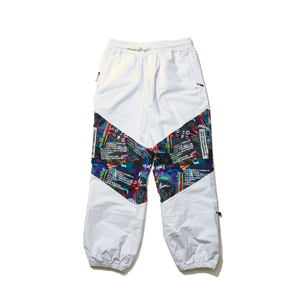 BSRABBIT BSR TRANSFORM BOX MULTI JOGGER PANTS WHITE
