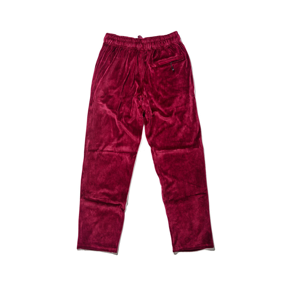 BSRABBIT BSR VELOUR TRACK PANTS BURGUNDY