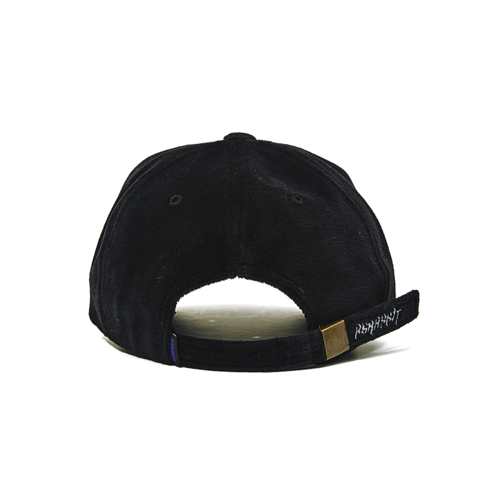 BSRABBIT BSR VELOUR CAP BLACK