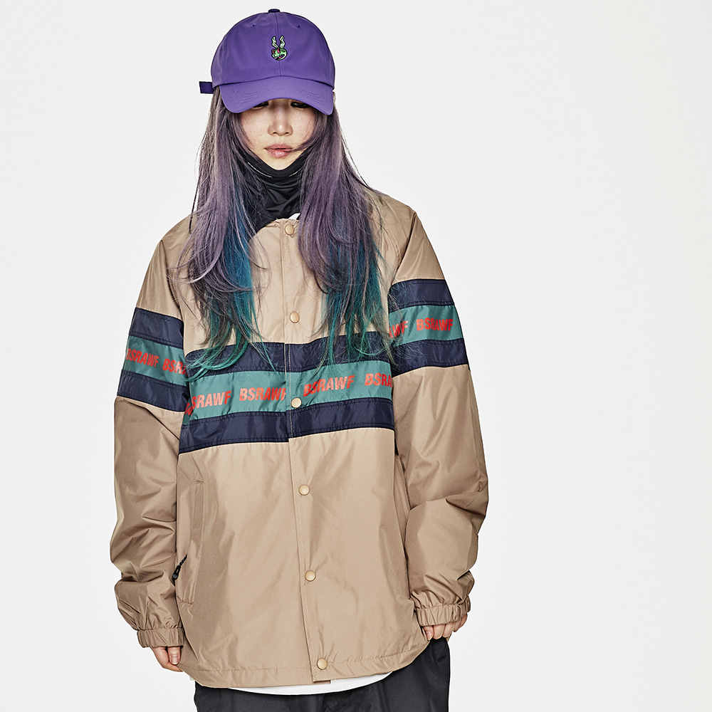 BSRABBIT BSRAWF LINE COACH JACKET BROWN