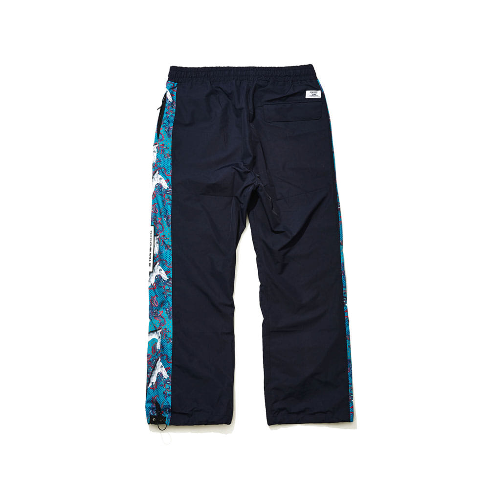 BSRABBIT BSR SHOWY LINE TRACK PANTS NAVY