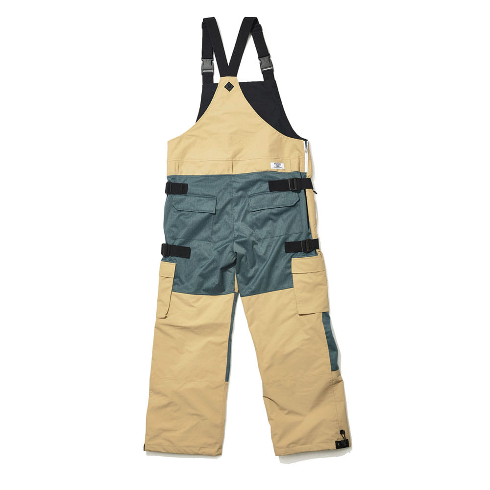 BSRABBIT BSR INCREDIBLE CARGO BIB PANTS BEIGE
