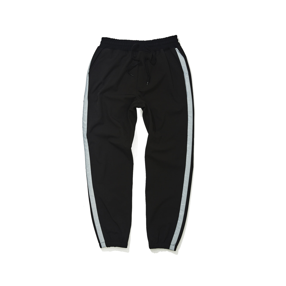BSRABBIT WATERPROOF LOGO JOGGER PANTS BLACK