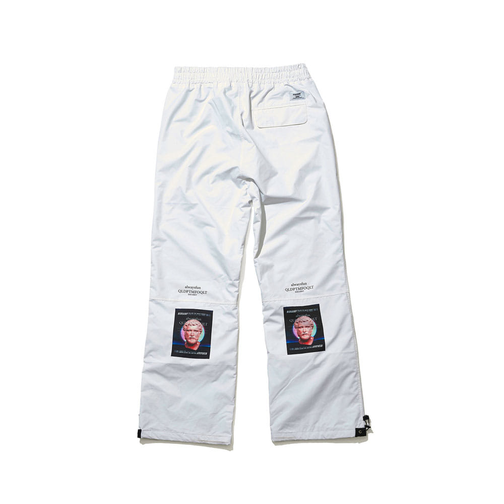 BSRABBIT BSR WORK TRACK PANTS WHITE