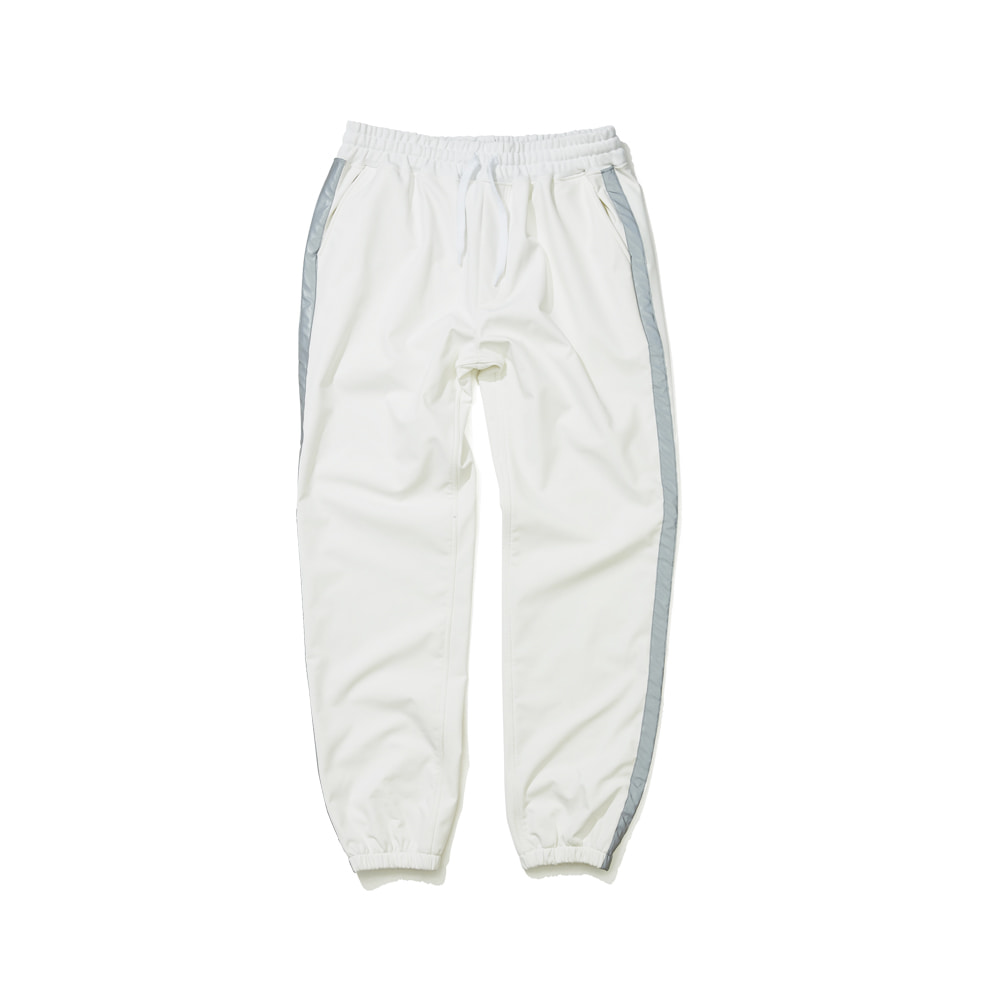 BSRABBIT WATERPROOF LOGO JOGGER PANTS WHITE