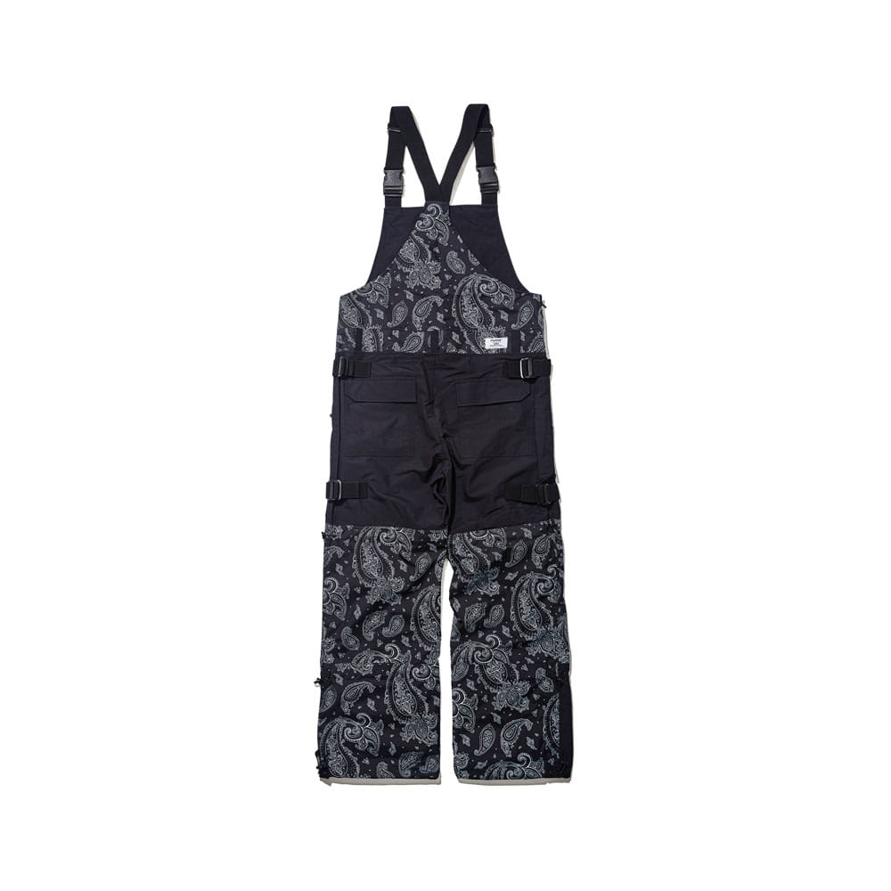 BSRABBIT BSR INCREDIBLE TRANSFORM BIB PANTS PAISLEY BLACK
